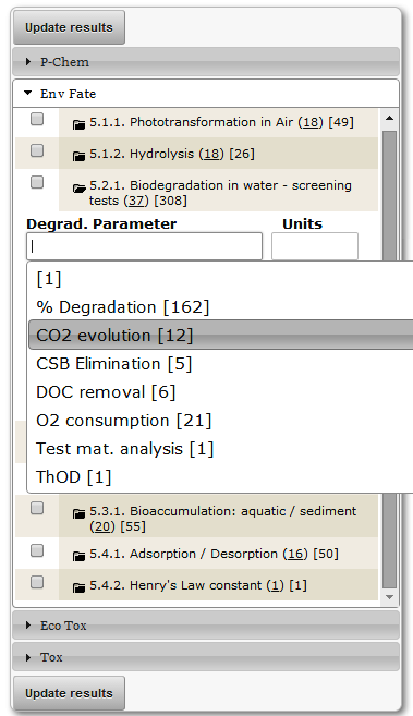 Env. Autocomplete (biodegradation parameter)